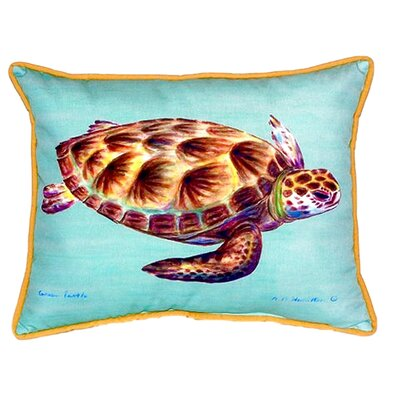 Green Sea Turtle Indoor/Outdoor Lumbar Pillow
