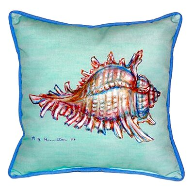 Conch Indoor/Outdoor Throw Pillow Color: Teal