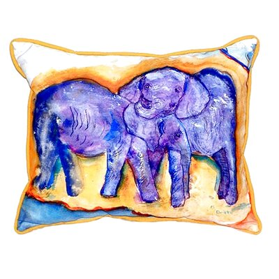 Elephants Indoor/Outdoor Lumbar Pillow