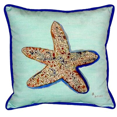 Starfish Indoor/Outdoor Throw Pillow Size: 18 H x 18 W