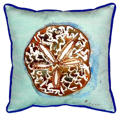 Sand Dollar Indoor/Outdoor Throw Pillow Size: 18 H x 18 W