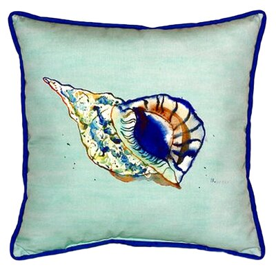 Shell Indoor/Outdoor Throw Pillow Size: 22 H x 22 W
