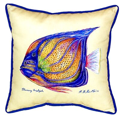 Ring Angelfish Indoor/Outdoor Throw Pillow Color: Yellow