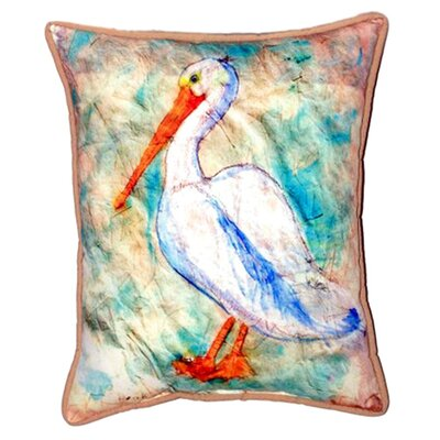 Pelican on Rice Indoor/Outdoor Lumbar Pillow