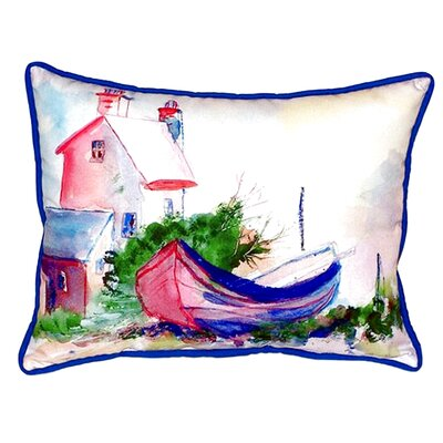 House and Boat Indoor/Outdoor Lumbar Pillow