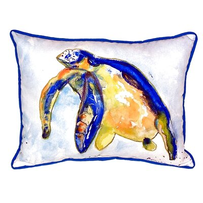Sea Turtle Left Indoor/Outdoor Lumbar Pillow