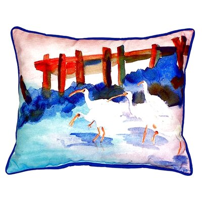 Ibises Indoor/Outdoor Lumbar Pillow
