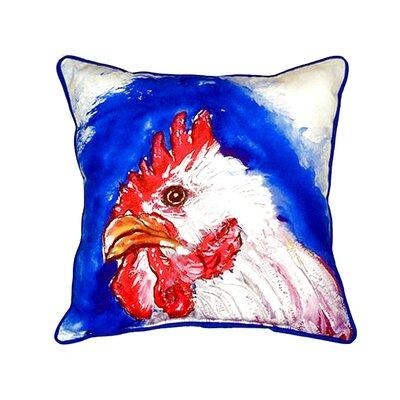 Rooster Head 22 Indoor/Outdoor Throw Pillow