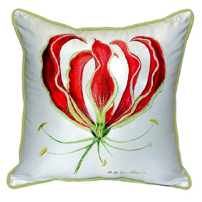 Lily Indoor/Outdoor Throw Pillow Size: Large