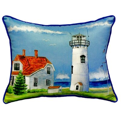 Chatham MA Lighthouse Indoor/Outdoor Throw Pillow Size: Large