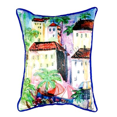Coastal Fun City II Indoor/Outdoor Lumbar Pillow