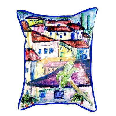 Fun City II Indoor/Outdoor Lumbar Pillow Size: Large