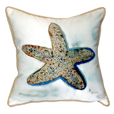 Coastal Starfish Indoor/Outdoor Throw Pillow