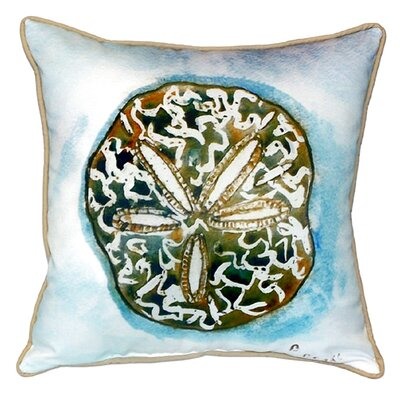 Coastal Sand Dollar Indoor/Outdoor Throw Pillow