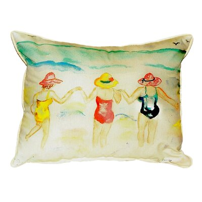 Ladies Wading Indoor/Outdoor Lumbar Pillow