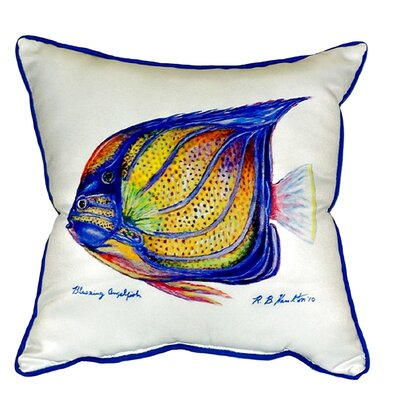 Ring Angelfish Indoor/Outdoor Euro Pillow Color: White