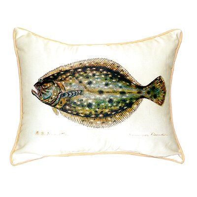 Flounder Indoor/Outdoor Lumbar Pillow Size: Large