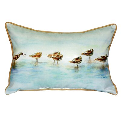 Avocets Indoor/Outdoor Lumbar Pillow Size: Large