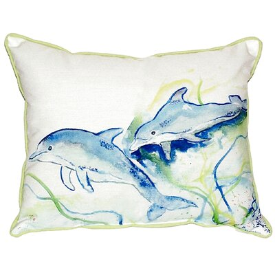 Dolphins Indoor/Outdoor Lumbar Pillow Size: Small