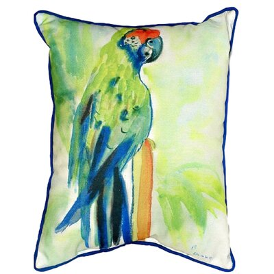 Parrot Indoor/Outdoor Lumbar Pillow