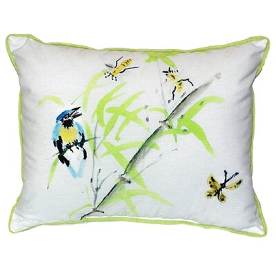 Birds and Bees II Indoor/Outdoor Lumbar Pillow Size: Small