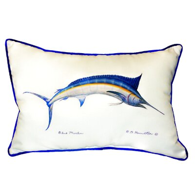 Marlin Indoor/Outdoor Lumbar Pillow Size: 24 H x 20 W, Color: White