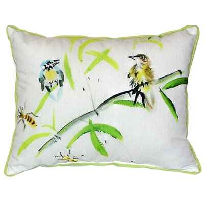Birds and Bees I Indoor/Outdoor Lumbar Pillow Size: Large