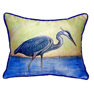 Heron Indoor/Outdoor Lumbar Pillow Size: Small