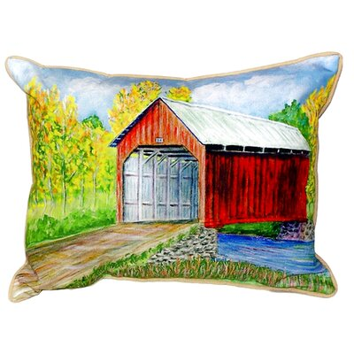 Dicks Covered Bridge Indoor/Outdoor Lumbar Pillow Size: Large