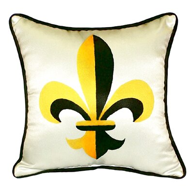 Garden Fleur-de-lis Indoor/Outdoor Throw Pillow