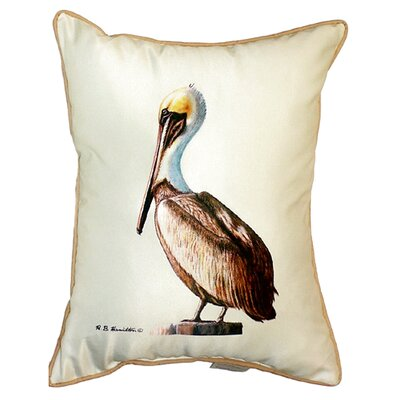Pelican Indoor/Outdoor Pillow Color: White, Size: 24