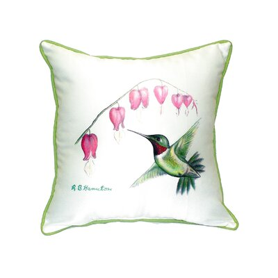 Hummingbird Indoor/Outdoor Throw Pillow Size: Small