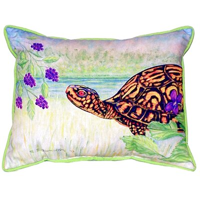 Turtle and Berries Indoor/Outdoor Lumbar Pillow Size: Small