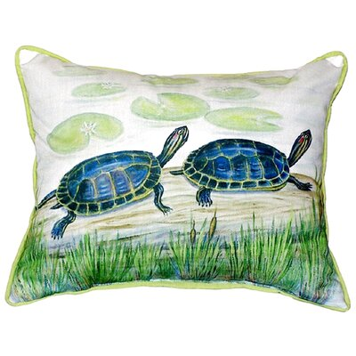Two Turtles Indoor/Outdoor Lumbar Pillow Size: Large