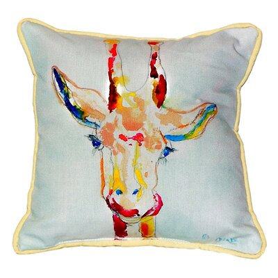 Giraffe Indoor/Outdoor Throw Pillow Size: Small