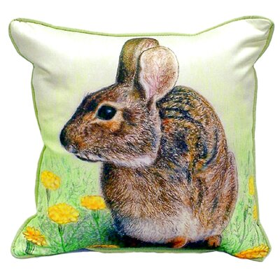 Rabbit Indoor/Outdoor Throw Pillow