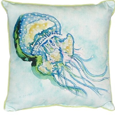 Jelly Fish Indoor/Outdoor Throw Pillow Size: Small