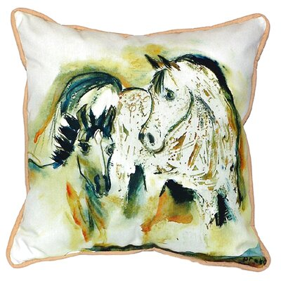 Mare and Colt Indoor/Outdoor Throw Pillow Size: Large