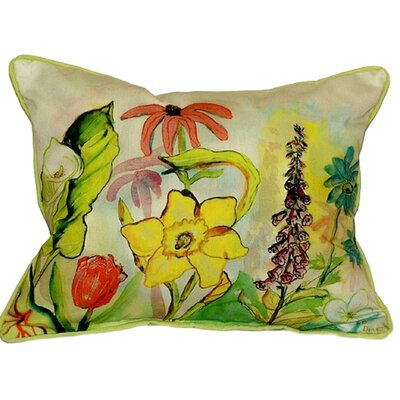 Garden Indoor/Outdoor Lumbar Pillow Size: Large