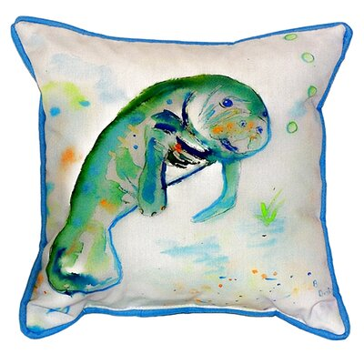 Manatee Indoor/Outdoor Throw Pillow Size: Large