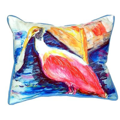 Spoonbill Indoor/Outdoor Lumbar Pillow Size: Small