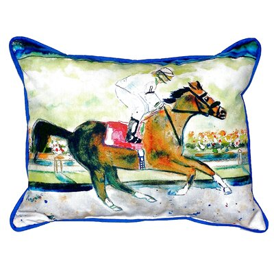 Racing Horse Indoor/Outdoor Lumbar Pillow Size: Large