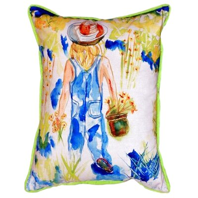Garden Girl Indoor/Outdoor Lumbar Pillow