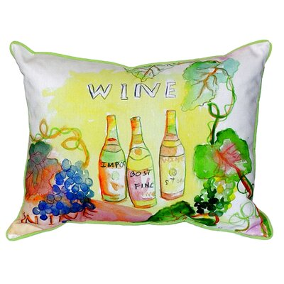 Wine Bottles Indoor/Outdoor Lumbar Pillow Size: Large