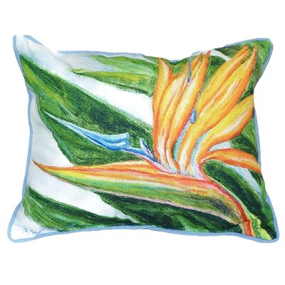 Bird of Paradise Indoor/Outdoor Lumbar Pillow Size: Large