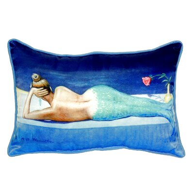 Mermaid Indoor/Outdoor Lumbar Pillow Size: Small