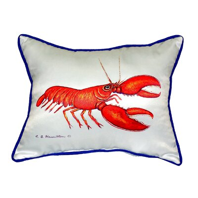 Red Lobster Indoor/Outdoor Lumbar Pillow