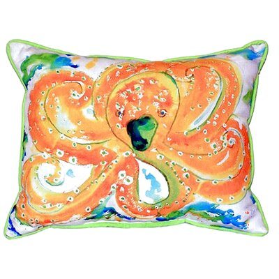 Orange Octopus Indoor/Outdoor Lumbar Pillow