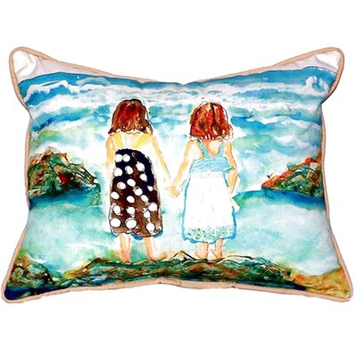 Twins on Rocks Indoor/Outdoor Lumbar Pillow Size: Small