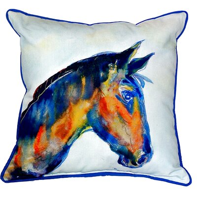 Horse Indoor/Outdoor Throw Pillow Size: Small